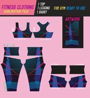 calça fitness, top e shorts padrão vetor