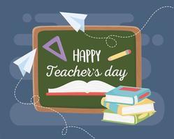 banner de materiais escolares para o dia do professor vetor