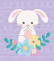 coelho feliz para a celebração do dia da páscoa