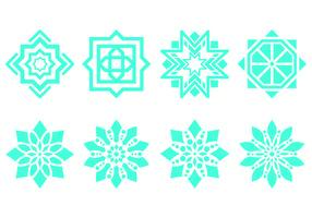 Símbolos Ornamento islâmicos vetor