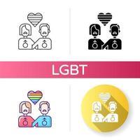 conjunto de ícones lgbt vetor