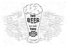Cerveja livre desenhada à mão vetor