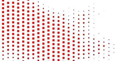 layout vermelho com retângulos.