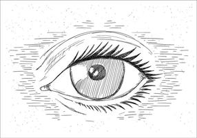 Olho livre desenhado mão desenhada