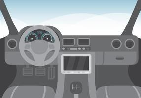 Free Vector Ilustração Interior de carro