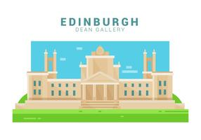 Dean Gallery Of Edinburgh Ilustração vetor