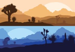 Ilustração Yucca Silhueta vetor