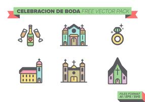 Celebracion de Boda gratuito Pacote Vector