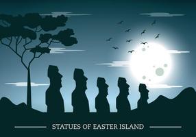Silhueta Ilha de Páscoa vetor