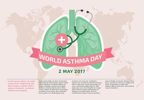 Vetor do molde Dia Mundial da Asma