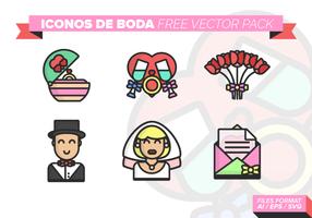 Iconos de boda pacote de vetores grátis 3