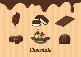 Chocolate Produto Vector grátis