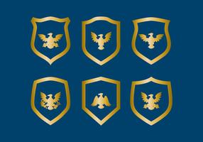 Vector águia selo do emblema
