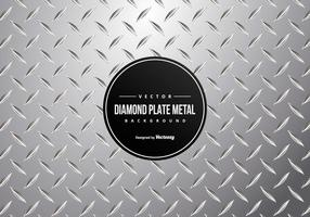 Fundo da placa do diamante do metal vetor