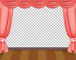 cortinas rosa isoladas vetor