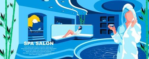 modelo de página de destino plana do spa salon vetor