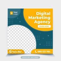 modelo de postagem de mídia social de marketing de negócios digitais vetor