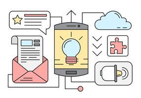 Elementos Desenvolvimento aplicação móvel gratuita vetor