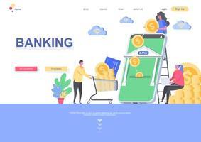 modelo de página de destino bancária vetor