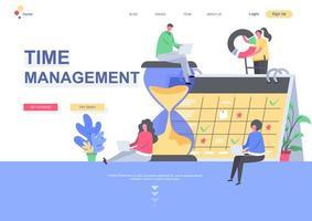 modelo de página de destino de gerenciamento de tempo vetor