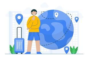 conceito de viagens para modelo de página de destino