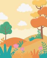 fundo de paisagem de desenho animado
