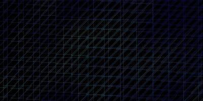 layout escuro com linhas azuis.
