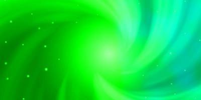 modelo verde com estrelas de néon.