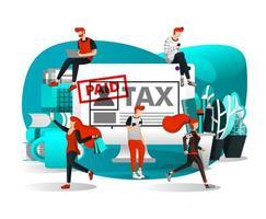 pessoas pagando impostos em qualquer lugar vetor