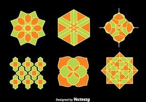 Vector ornamento Coleção islâmica