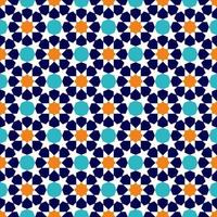padrão de ornamento tradicional muçulmano vetor
