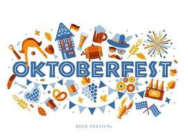 banner de tipografia oktoberfest vetor