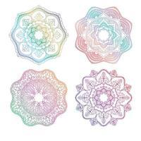 conjunto de mandala de arco-íris