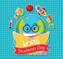ícone do dia mundial do estudante
