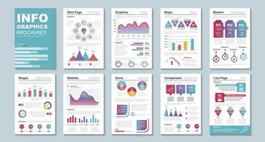 brochuras de infográfico, modelo de design de visualização de dados vetor