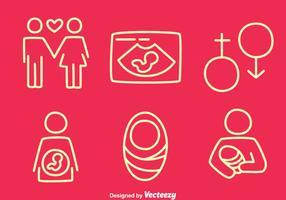 Vetores linha de maternidade