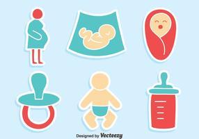 Agradável Maternidade elemento Vectors