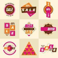 conjunto de emblemas de venda retrô