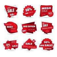 conjunto de emblemas de venda no varejo