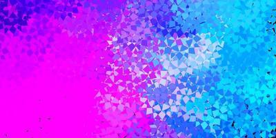 fundo rosa e azul com triângulos.