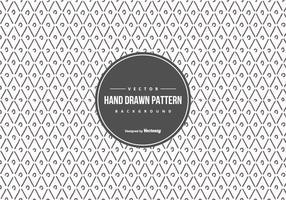 Mão Geométrico bonito estilo desenhado fundo do teste padrão vetor