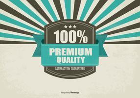 Fundo retro promocional de qualidade Premium vetor