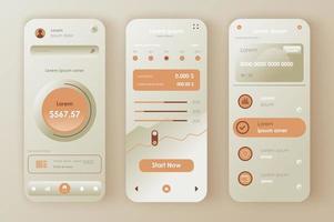 kit de design neomórfico de gestão financeira