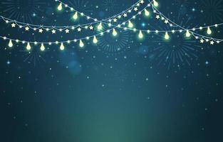 fundo de ano novo com luzes brilhantes e brilhantes vetor