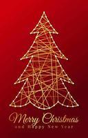 corda de ouro para árvore de natal vetor