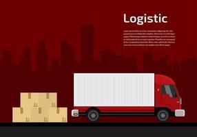 Camion Logistic Vector grátis