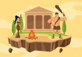 Hercules dos desenhos animados Vector grátis