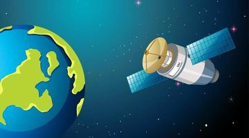 cena de satélite e terra vetor