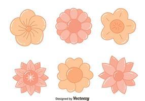 Agradável flores tiradas mão Vectors