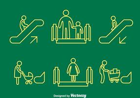 Escada rolante Elemento Vector Sign